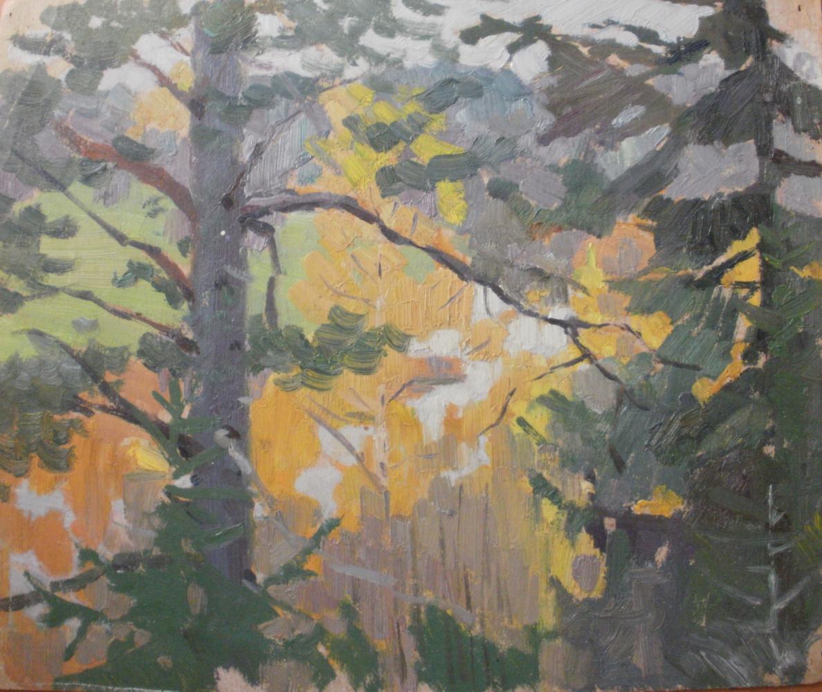 Nina Vasilievna Sedova. In the forest, autumn