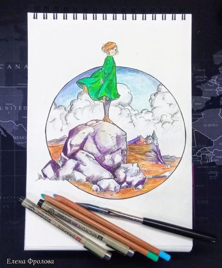 Elena Nikolaevna Frolova. Pencil sketches
