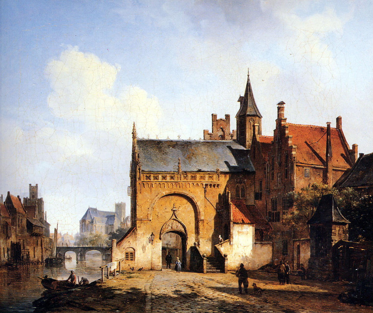 Cornelis Springer. Fantasy city
