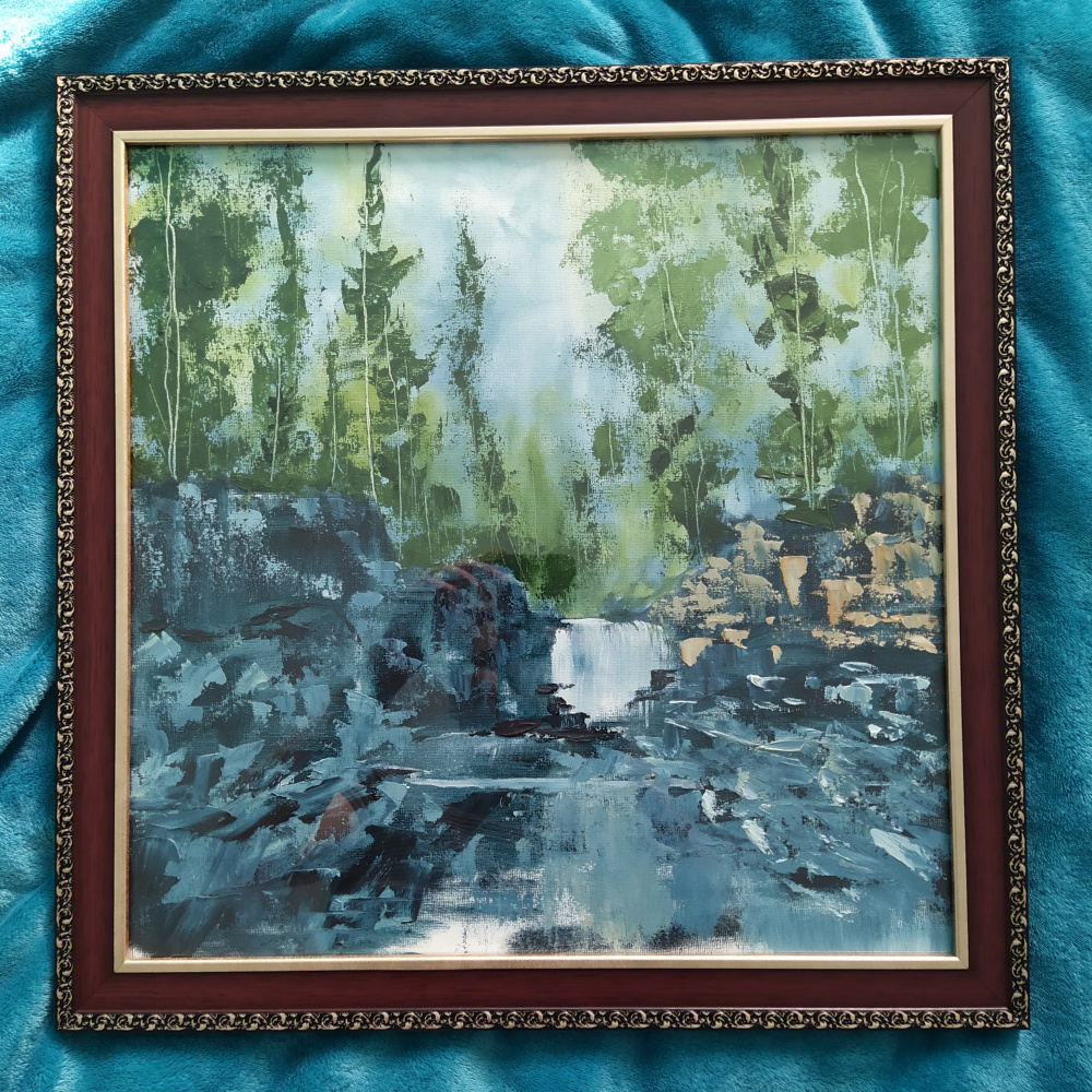 Anton Afonin. Forest oil on canvas on cardboard 2019