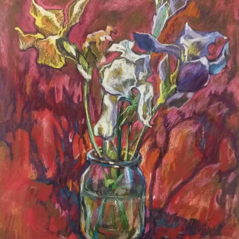 Irina Alexandrovna Vashtag. Pastel. Irises.