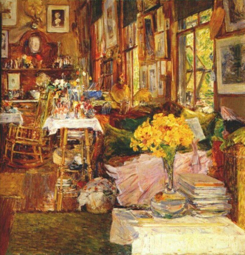 Чайльд Гассам. Цветы в комнате
