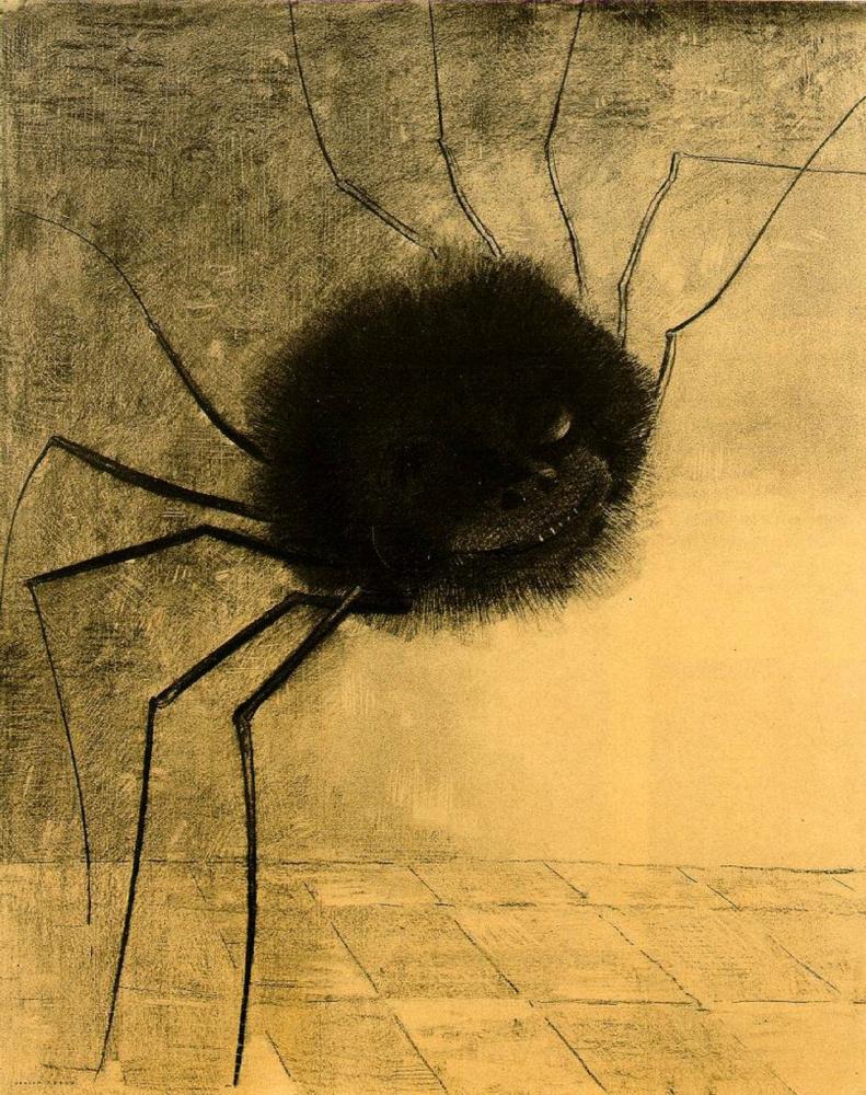 Odilon Redon. Smiling spider