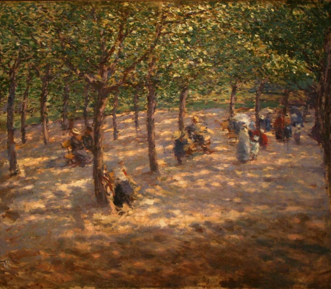 Antonin Slavichek. In the summer park