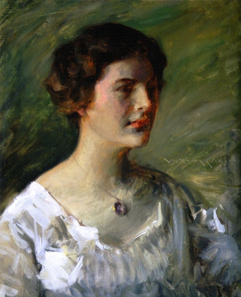 William Merritt Chase. Female portrait