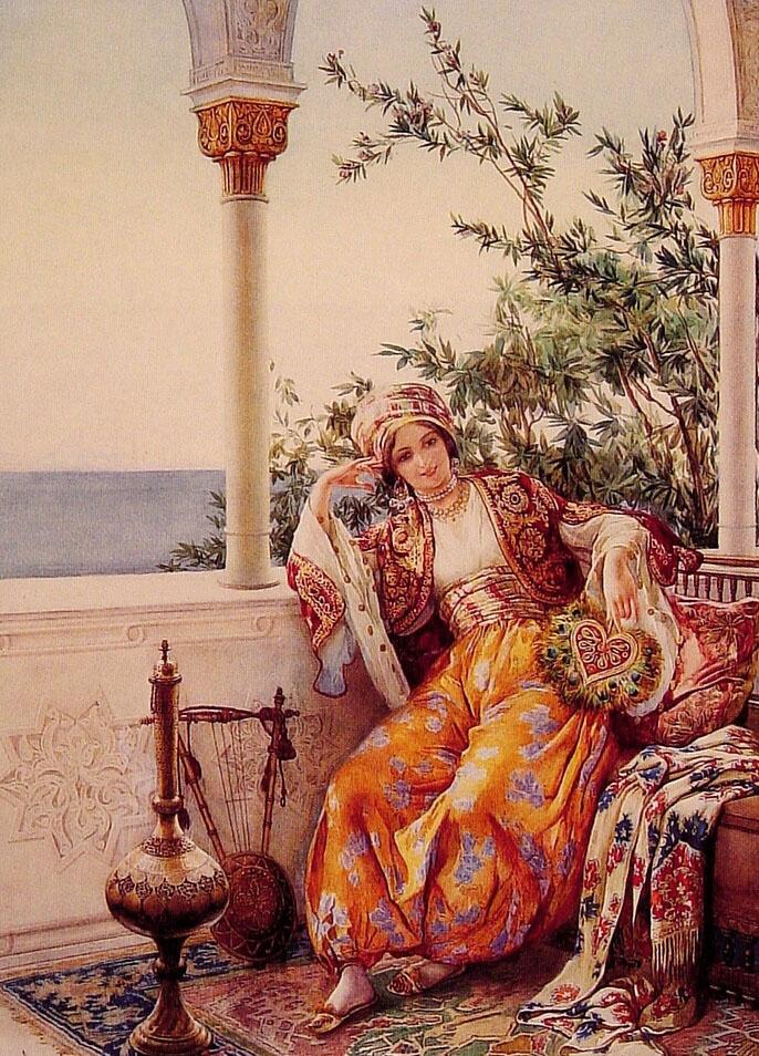 Амедео Момо Симонетти. На балконе