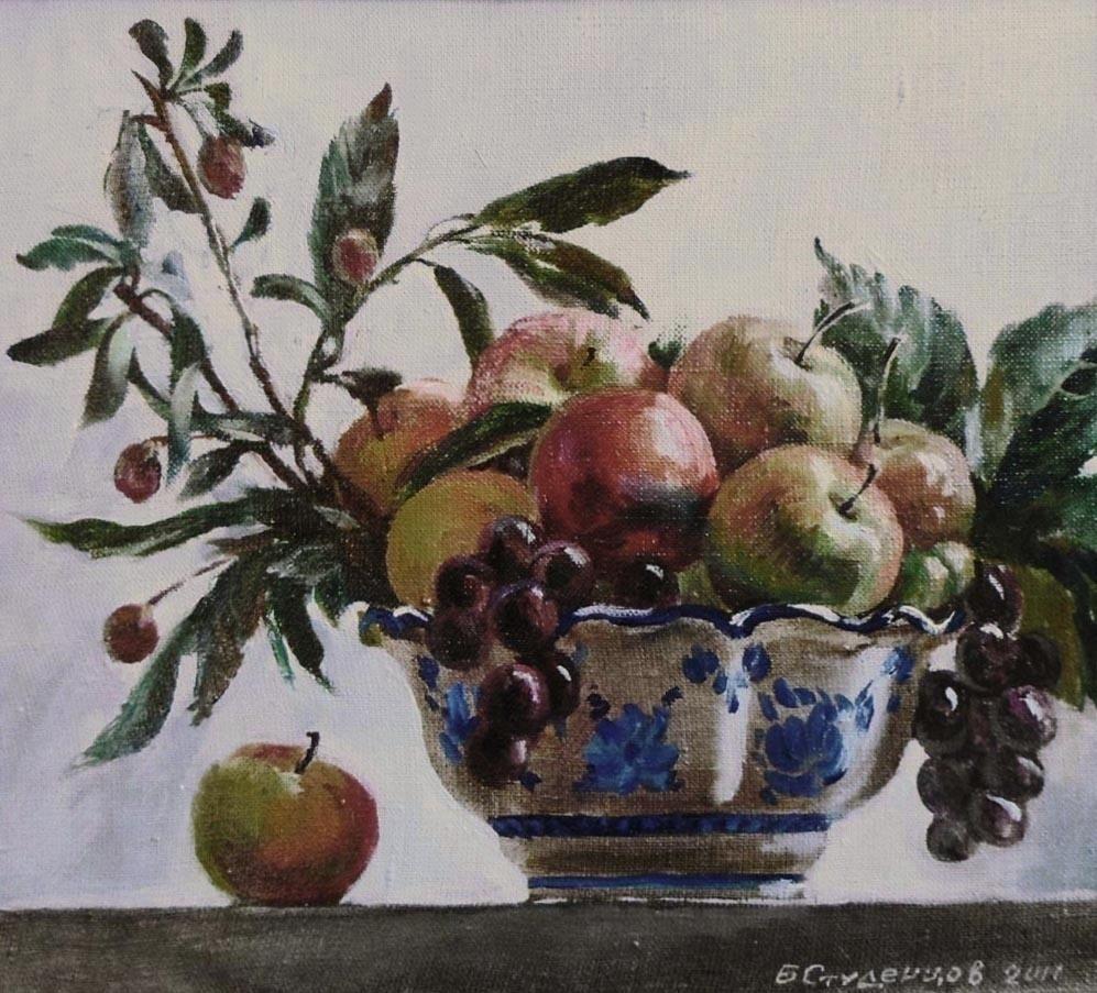 Boris Anatolevich Studentzov. Still life with apples