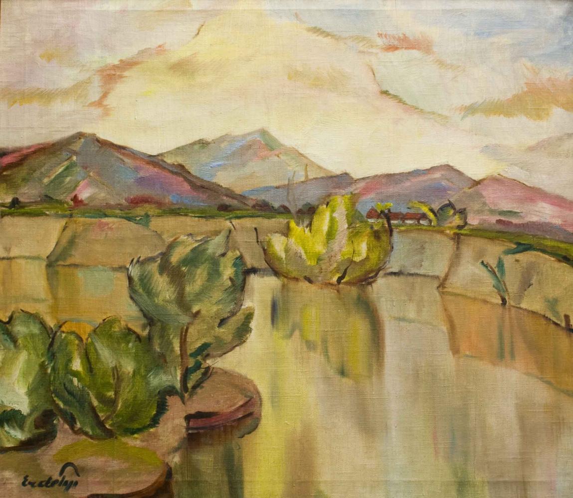 Adalbert Mikhailovich Erdeli. River landscape