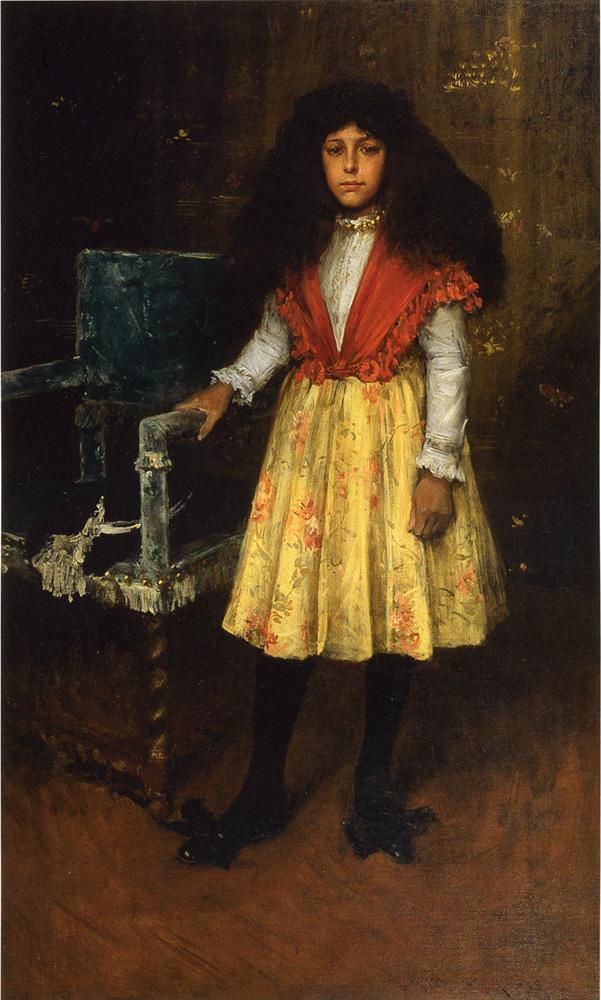 William Merritt Chase. Little miss H. Portrait Erla Howell