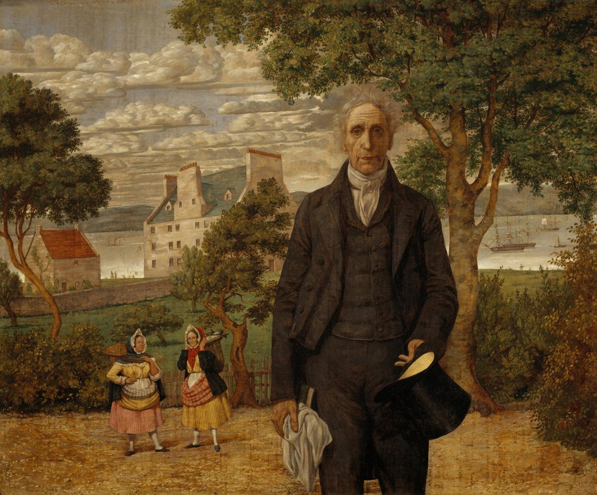 Richard Dudd. Portrait of Sir Alexander Morrison, a psychiatrist