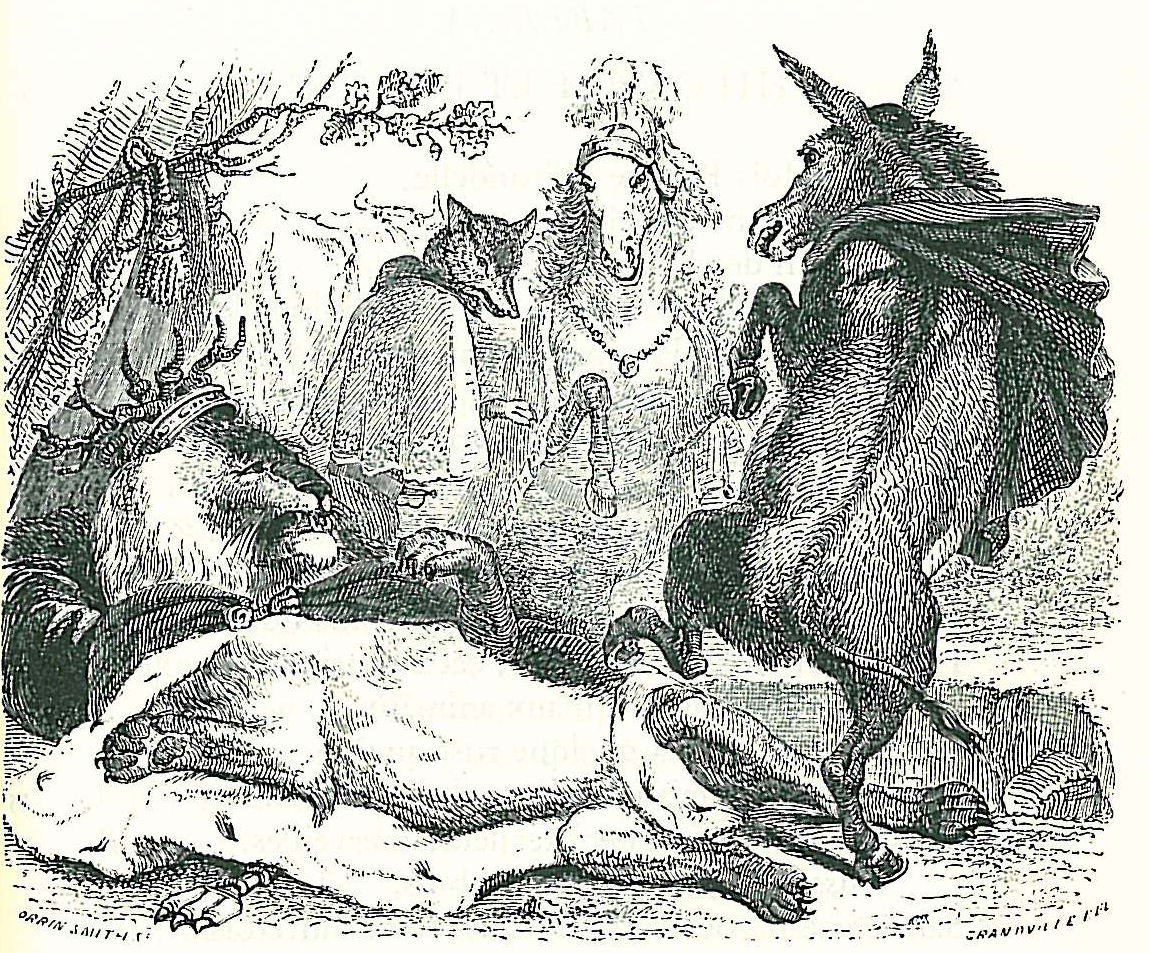 Jean Inias Isidore (Gerard) Granville. The oldest Leo. Illustrations to the fables of Jean de Lafontaine