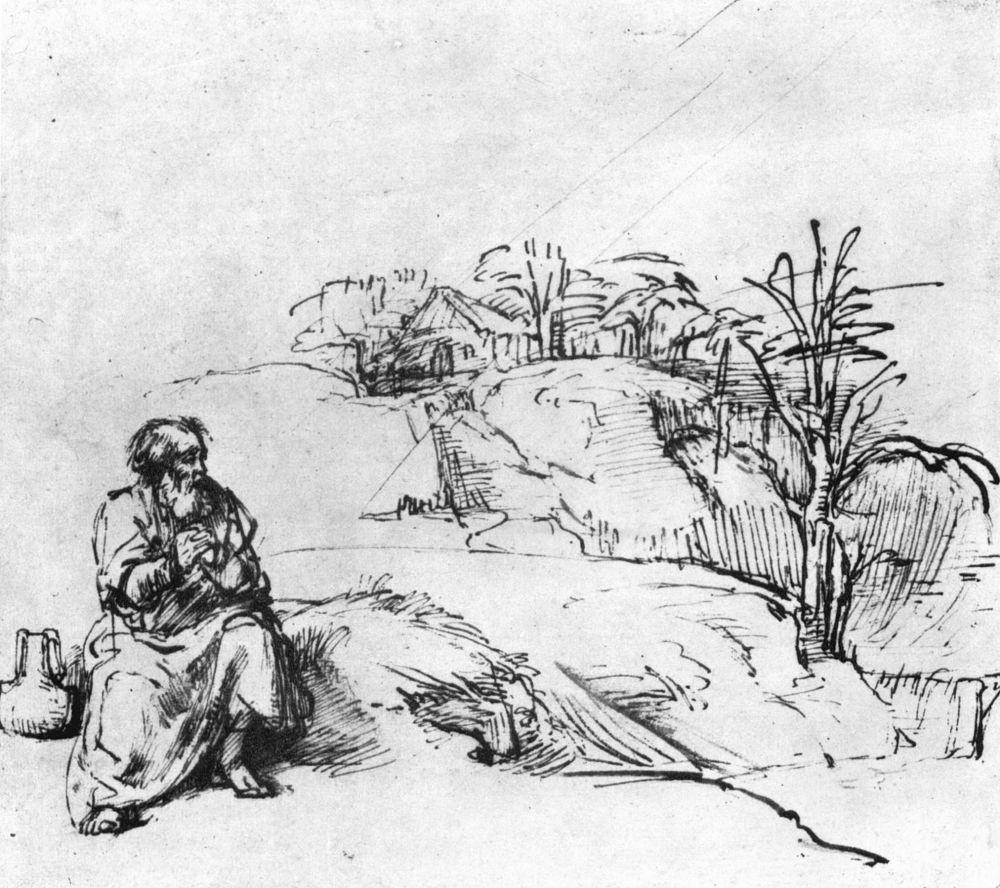 Рембрандт Ван Рейн. Илия у ручья