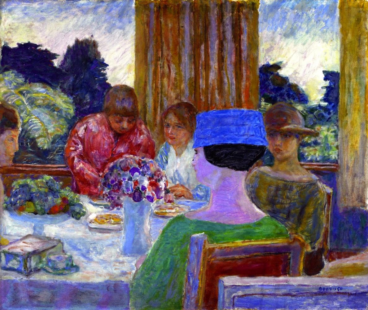 Pierre Bonnard. The tea party