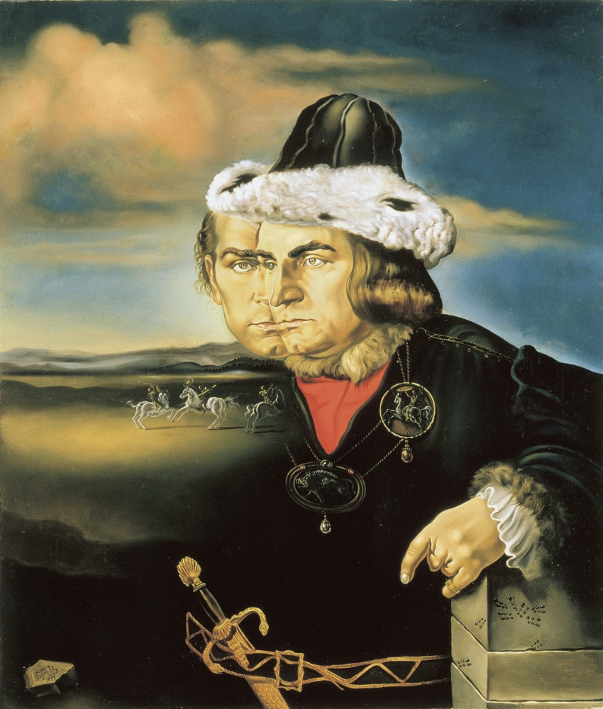 Salvador Dali. Portrait of Lawrence Olivier as Richard III