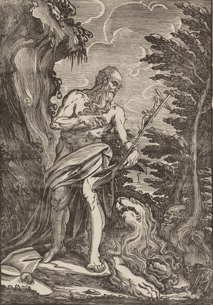 Titian Vecelli. St. Jerome in the Wilderness