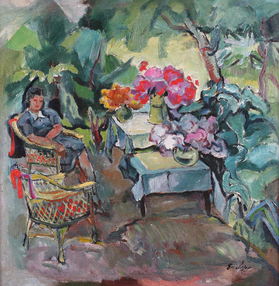 Адальберт Михайлович Эрдели. Цветы на столе