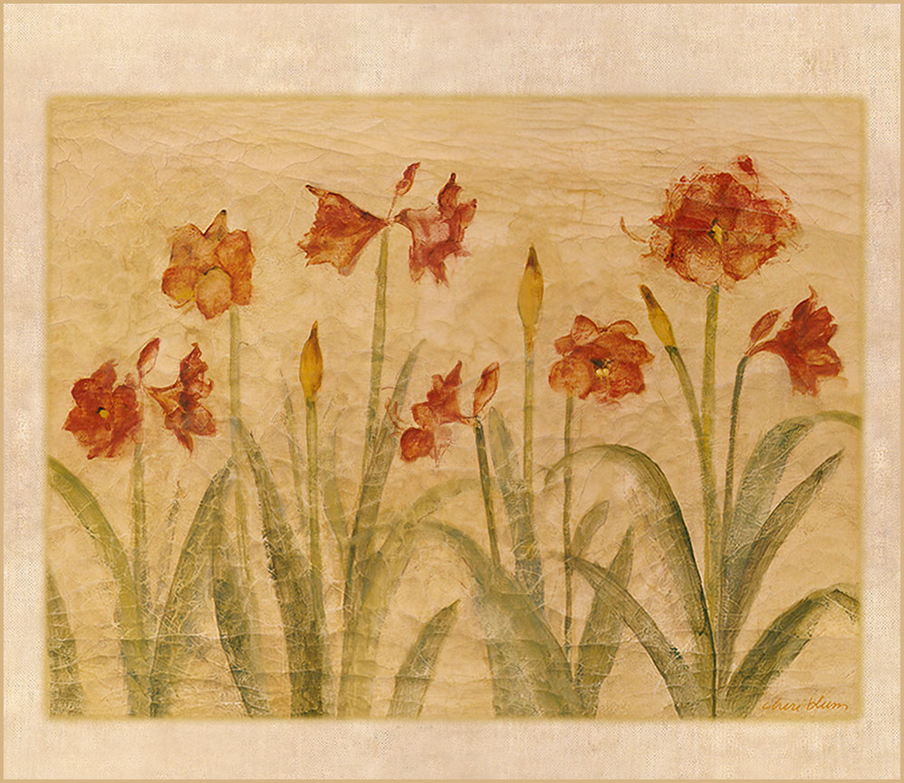 Cheri Blum. Red flowers