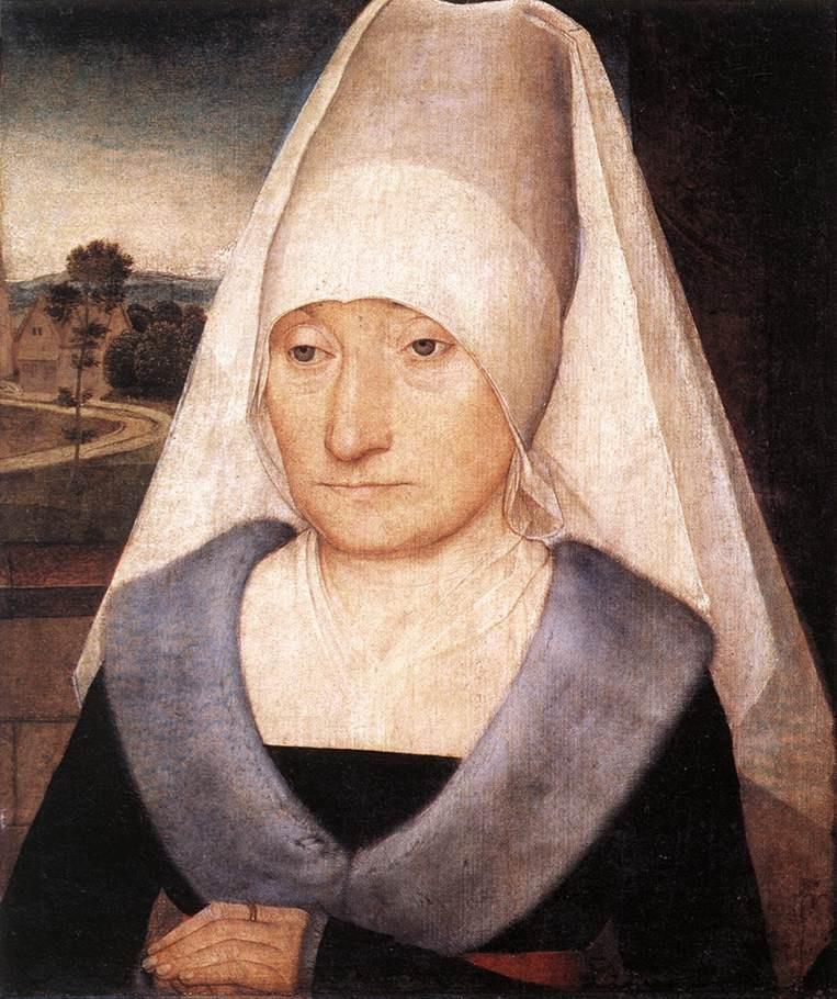 Ганс Мемлинг. Портрет пожилой женщины