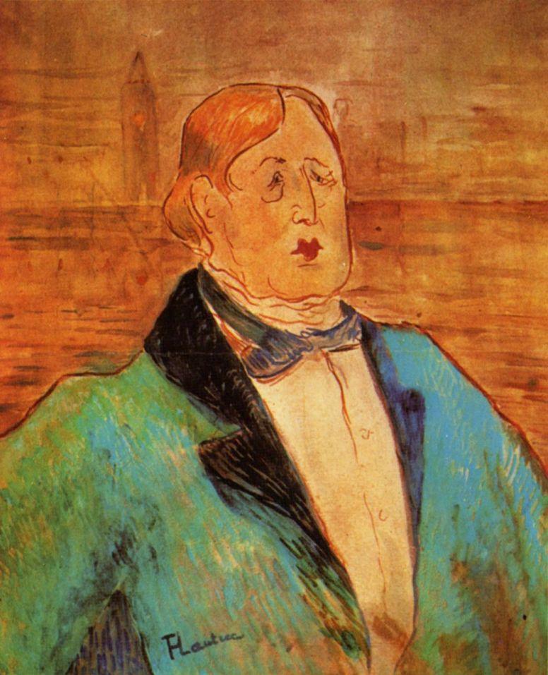 Henri de Toulouse-Lautrec. Portrait Of Oscar Wilde