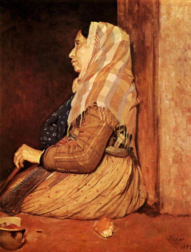 Edgar Degas. Roman beggar woman