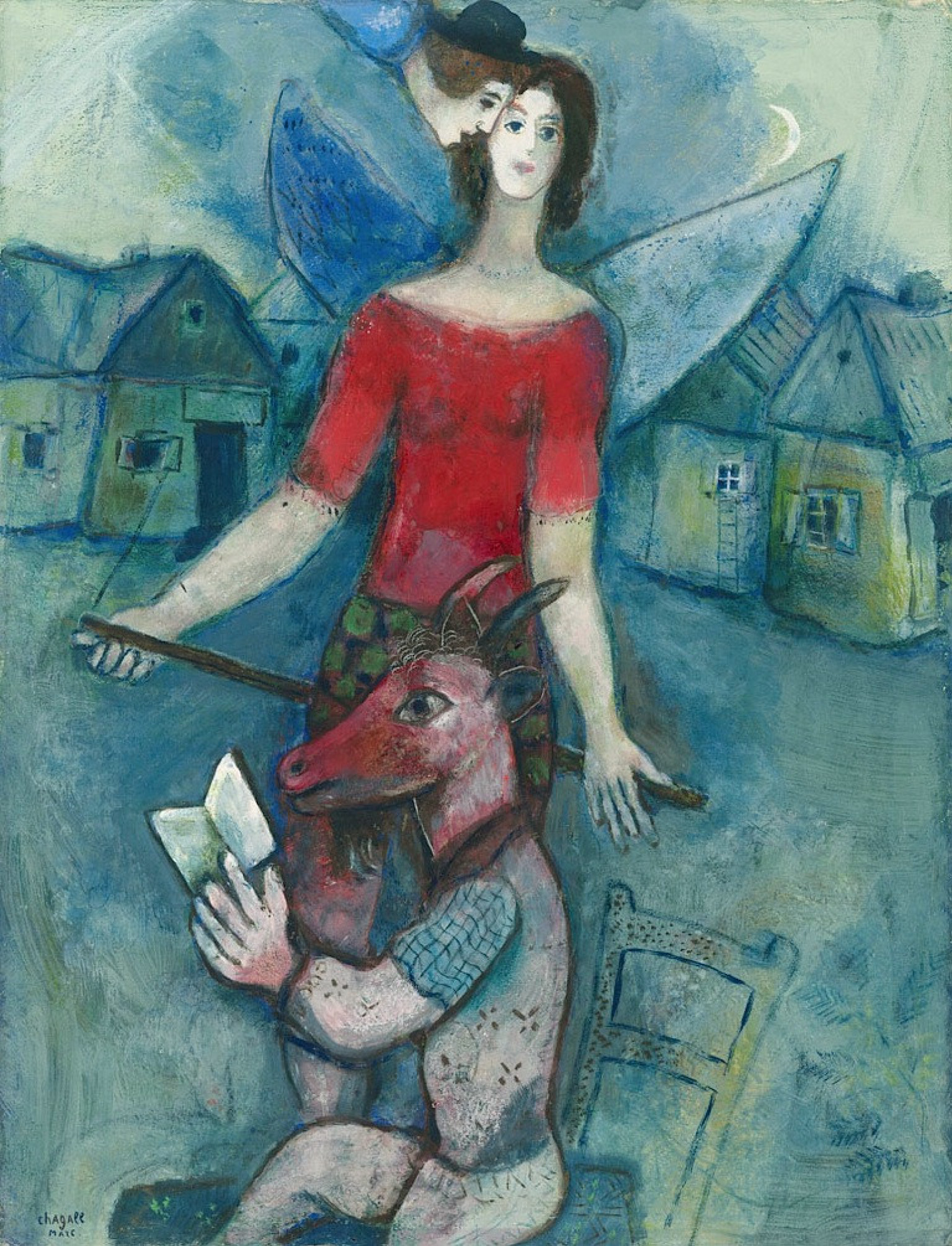 Marc Chagall. The angel and the reader