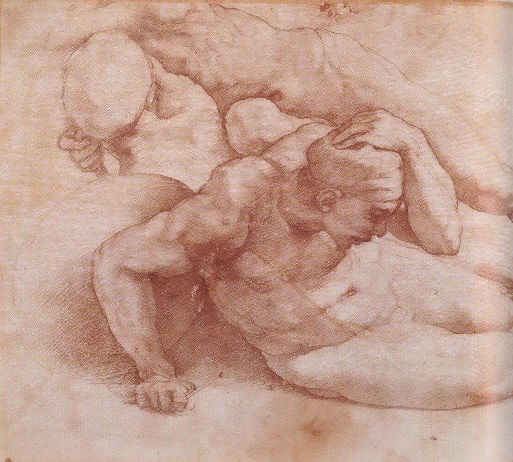 Микеланджело Буонарроти. Две фигуры