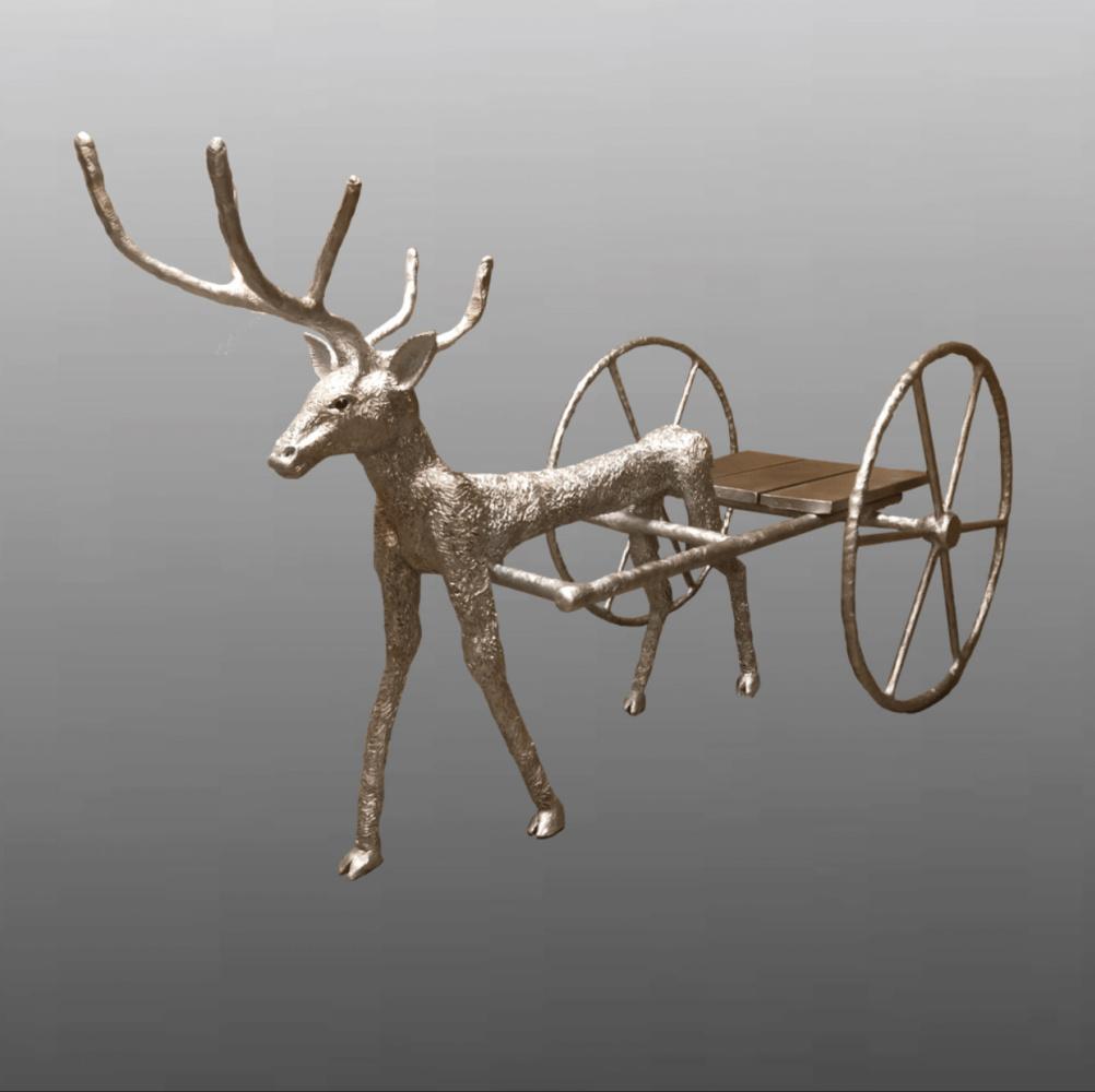 "(no name). The sculpture ""deer harness"""