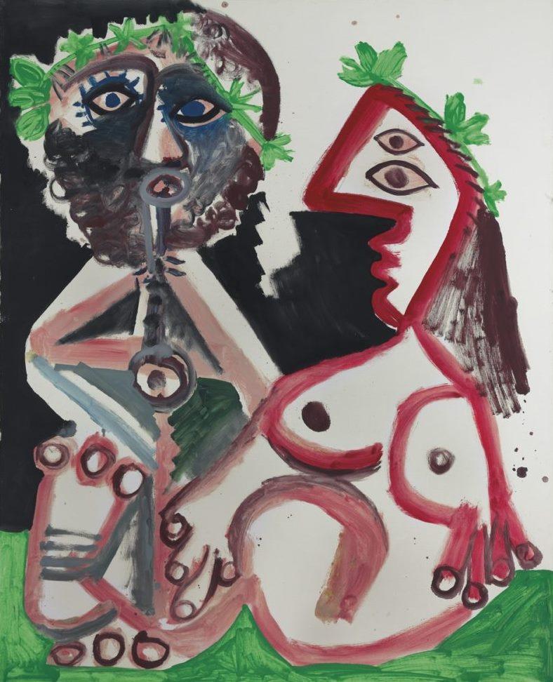 Пабло Пикассо. Флейтист и обнаженная женщина