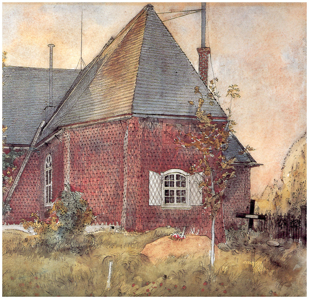 Carl Larsson. The old Church