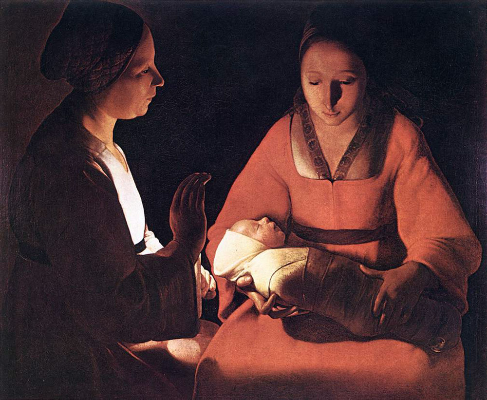 Georges de La Tour. Newborn