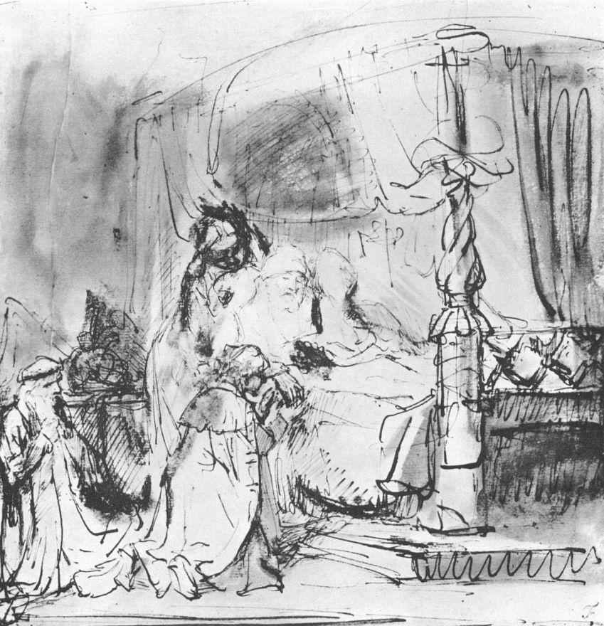 Рембрандт Харменс ван Рейн. Давид назначает Соломона своим преемником