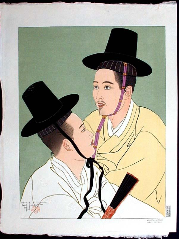 Павел Якоулет. Мужчины в черных шляпах