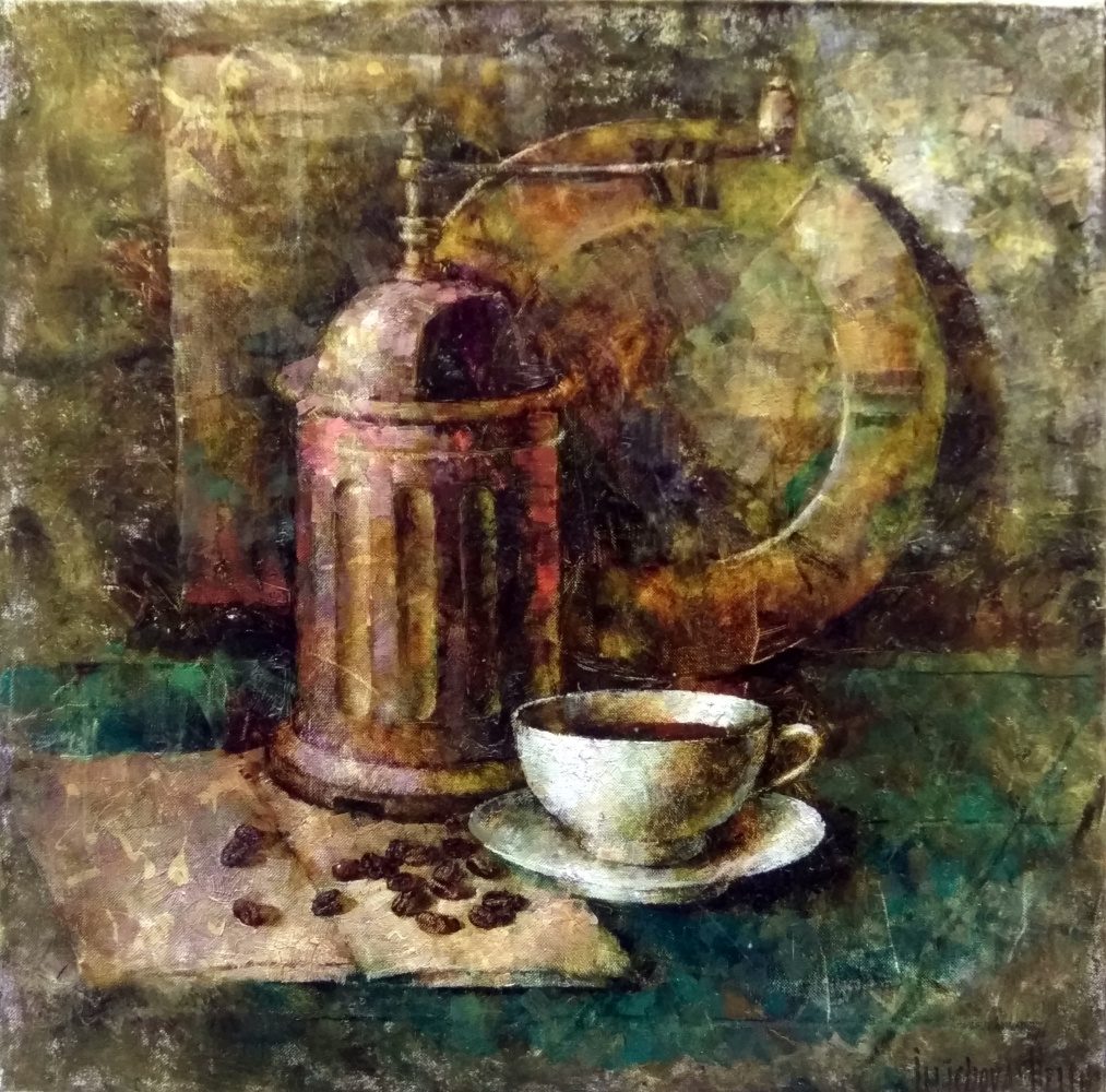Elena Nikolaevna Ilyicheva. Coffe time