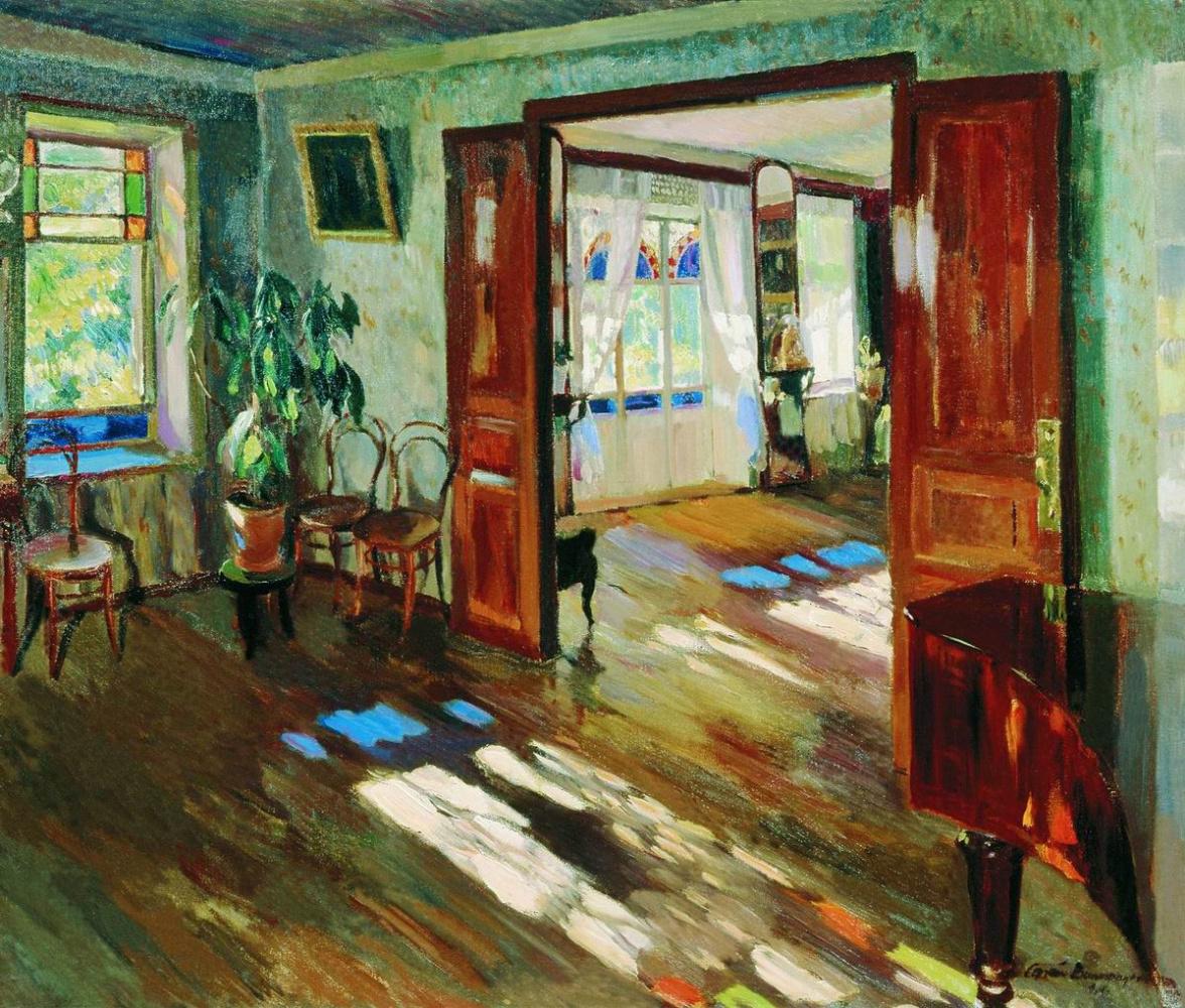 Sergey Arsenievich Vinogradov. In the house