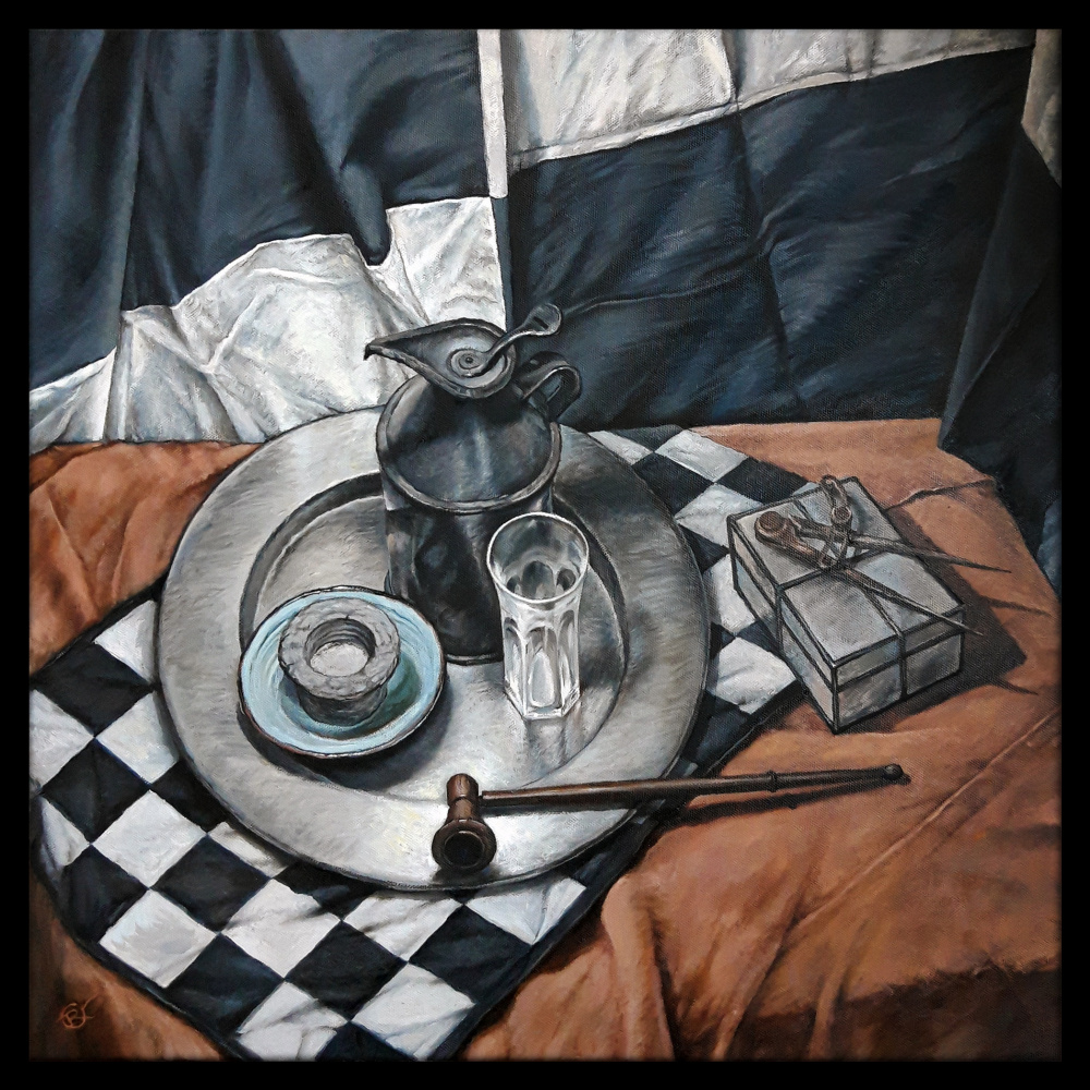 Olga Ray. Still life with compasses