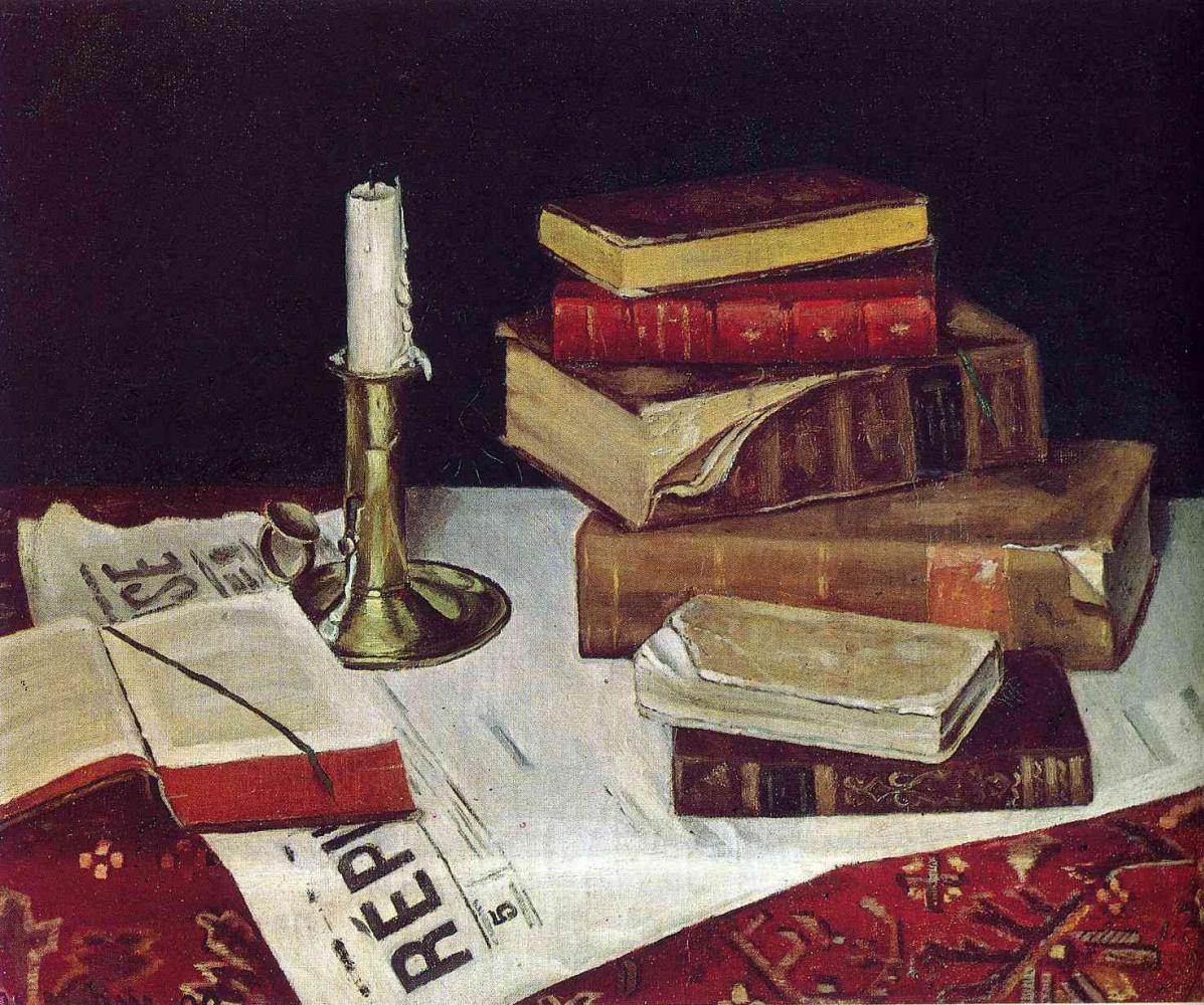 Анри Матисс. Натюрморт с книгами и свечой