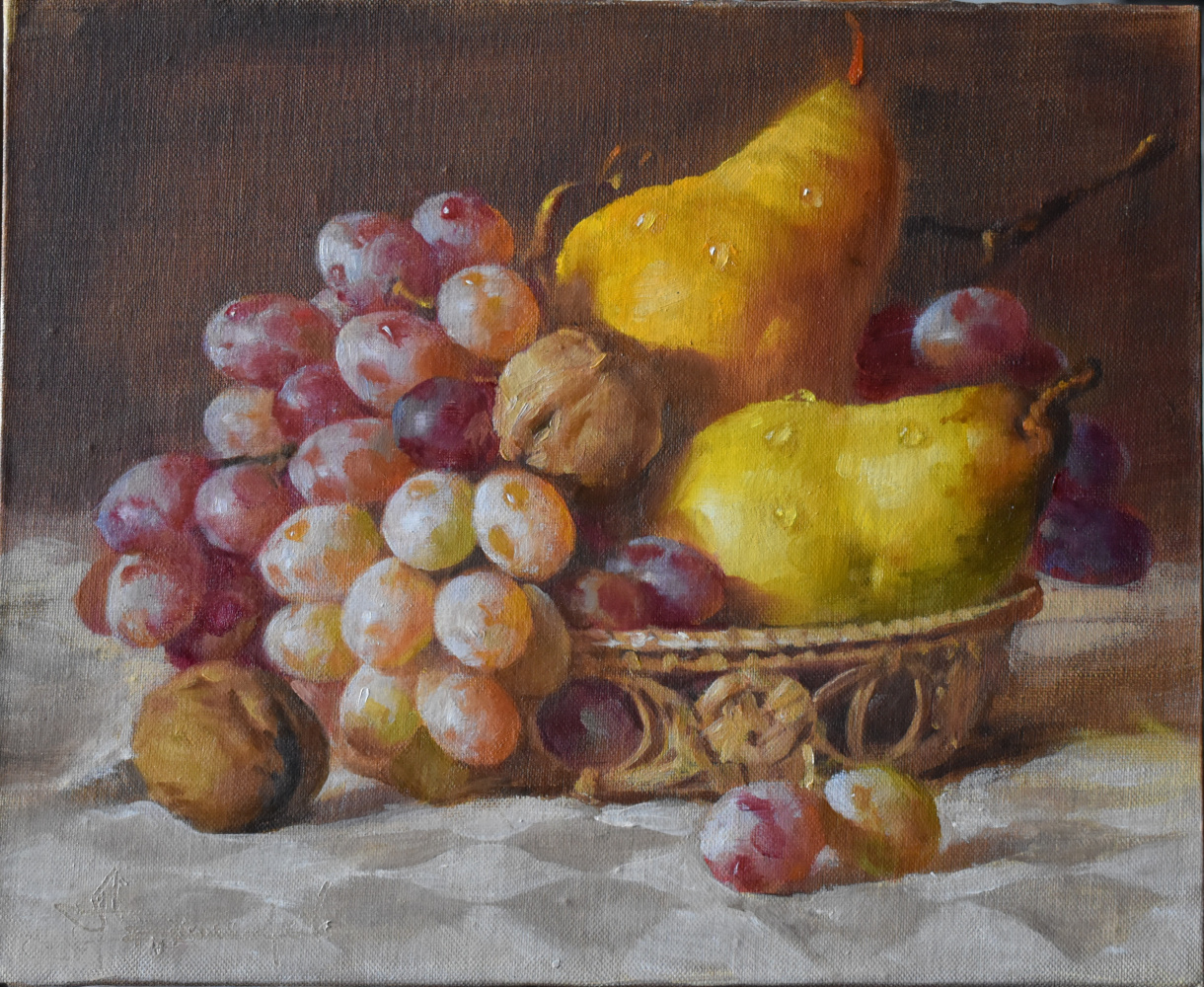 Andrey Bashirov. Fruits and nuts in a basket