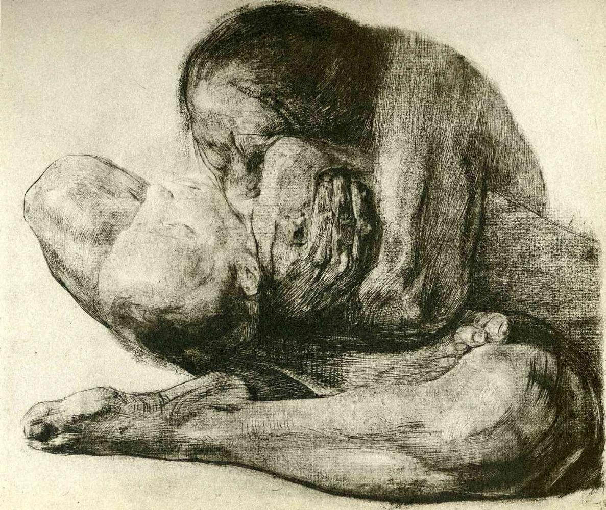 Käthe Kollwitz. The woman with the dead child