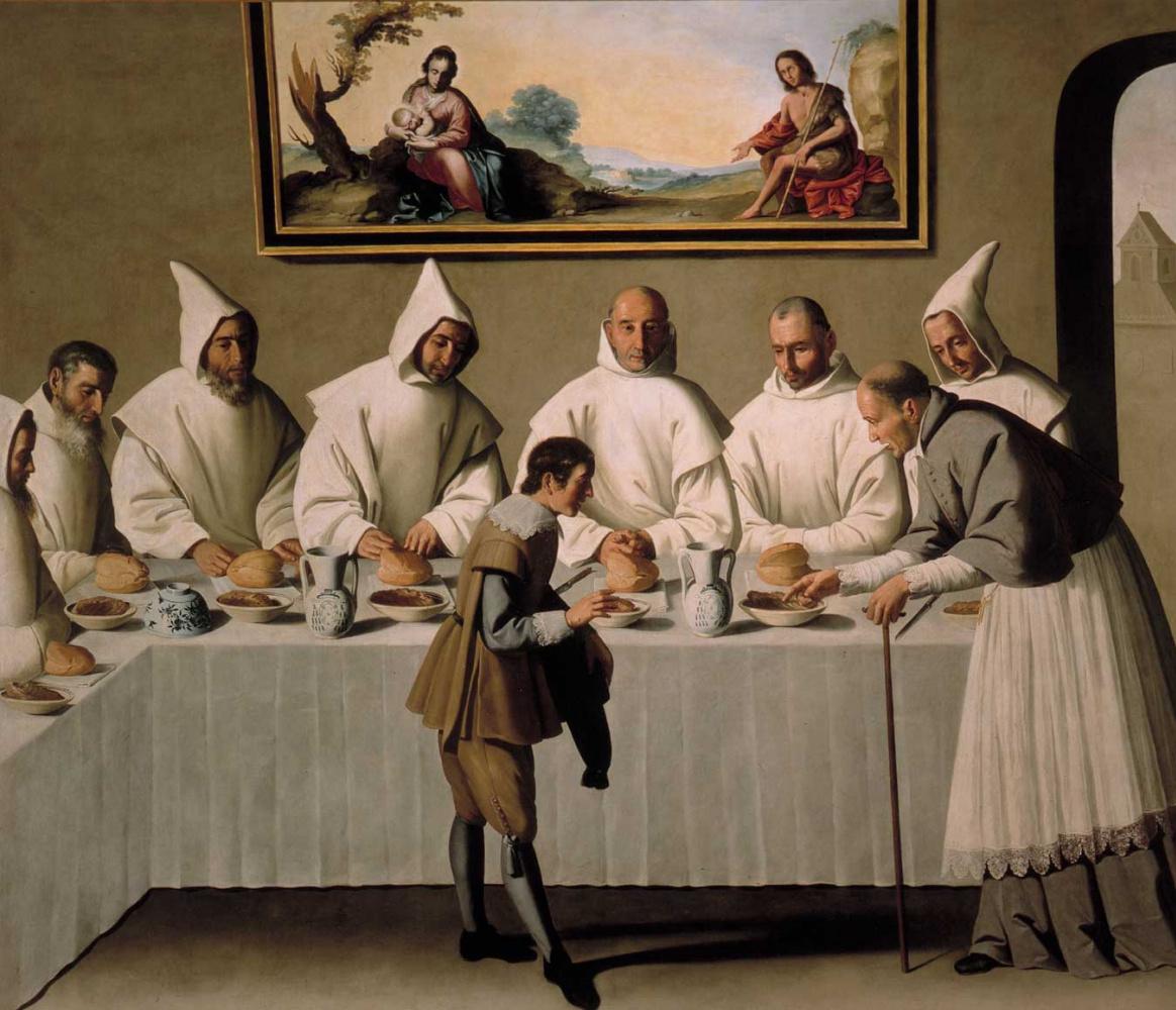 Франсиско де Сурбаран. Цикл картин для каретзианского монастыря. Святой Гуго в картезианском монастыре