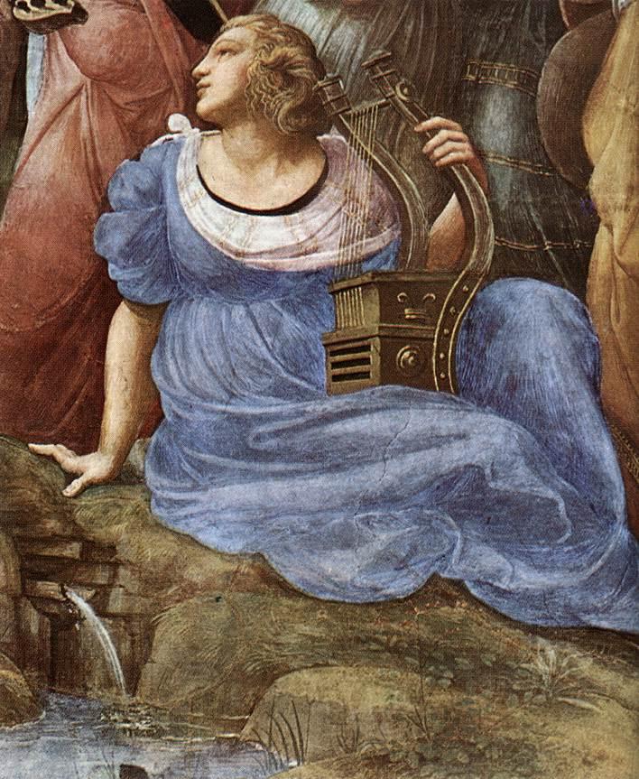 Raphael Sanzio. Parnassus. The stanza della senyatura. Snippet: Terpsichore
