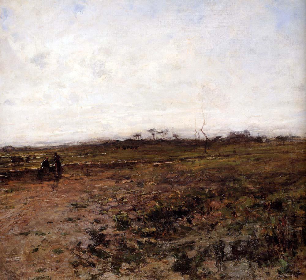 Жан-Франсуа Милле. Пейзаж с двумя бабами