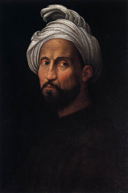 Giuliano Bougirdini. Portrait of Michelangelo wearing a turban