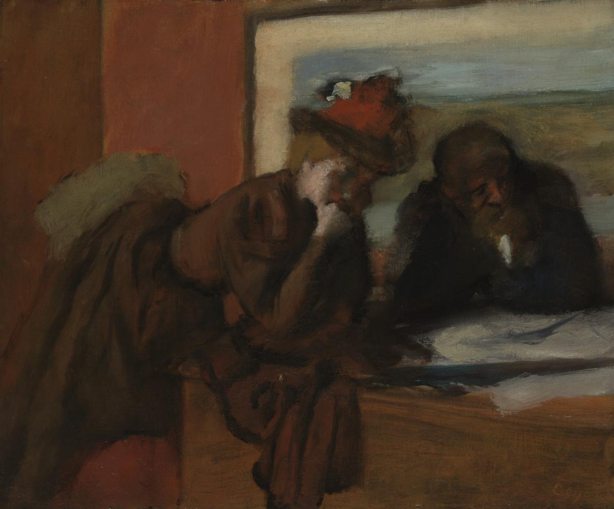 Edgar Degas. The conversation