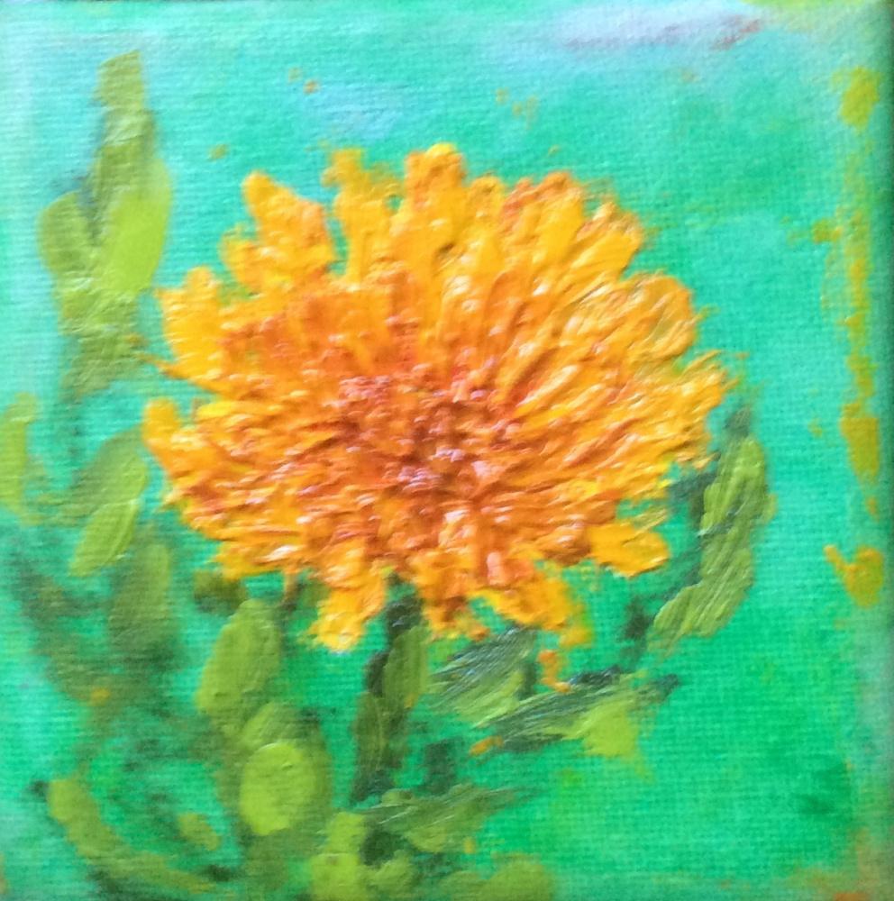 "Rita Arkadievna Beckman. Series ""Portraits of favorite flowers"". Star named chrysanthemum"