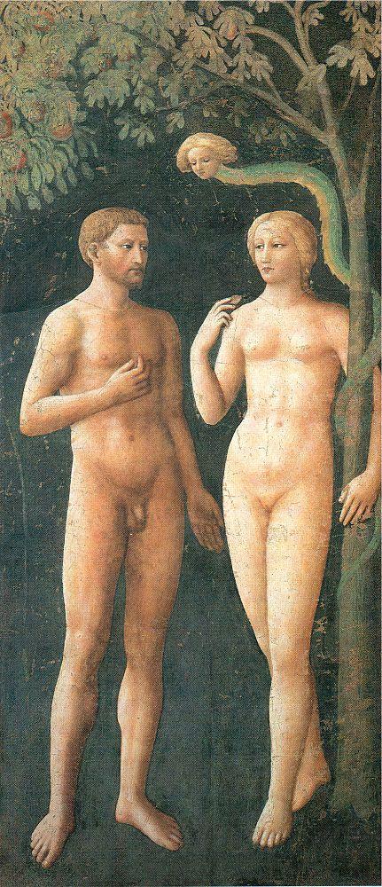 Томмазо Мазолино. Адам и Ева