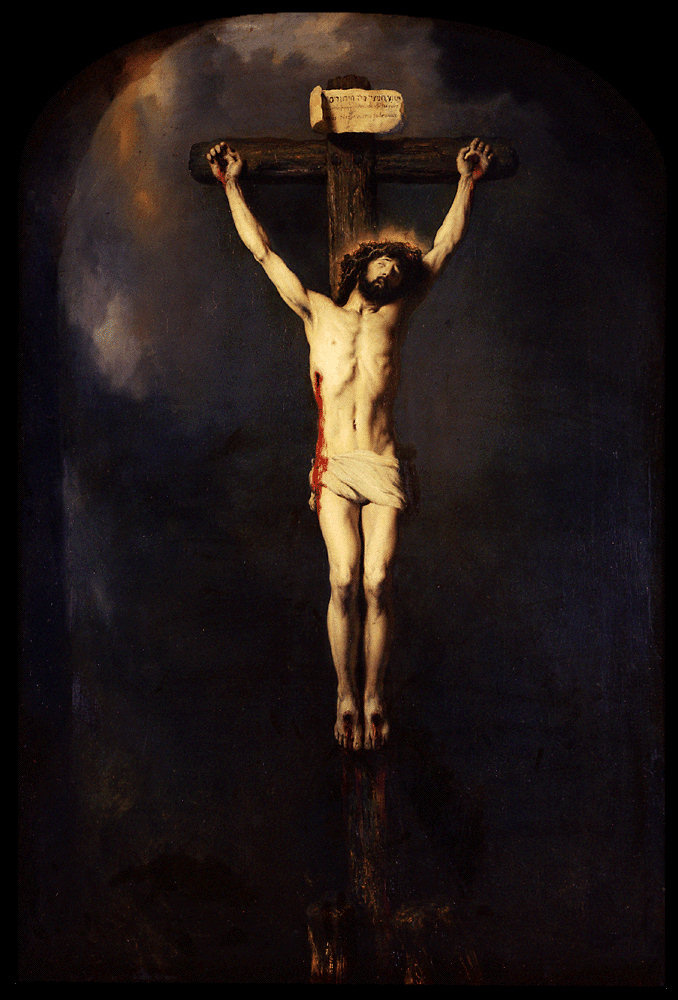 Jan Lievens. Jesus on the cross (Crucifixion of Christ)
