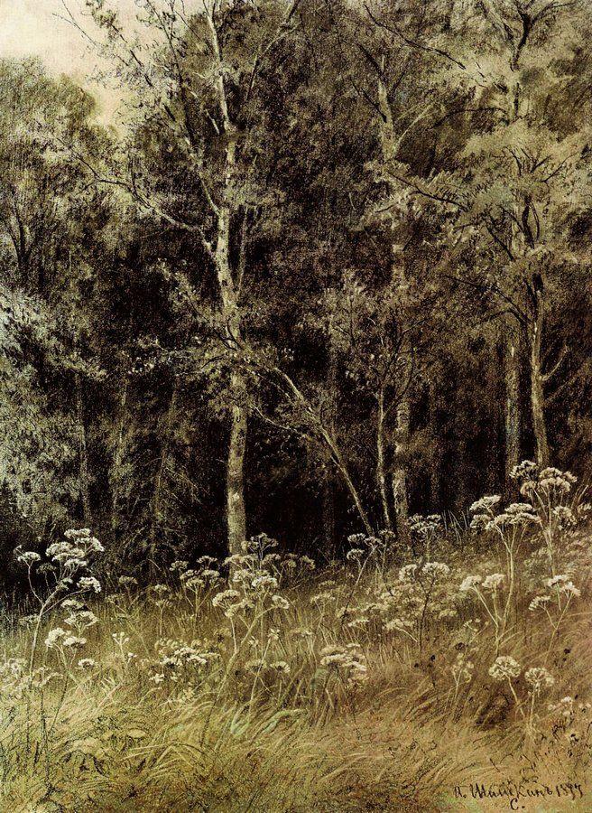 Иван Иванович Шишкин. Цветы в лесу
