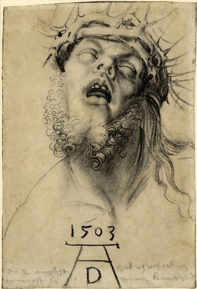Результат Изображение для А.  Дюрер, 1503. Автопортрет в образе мертвого Христа?