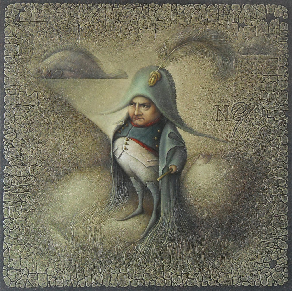 """Vladimir Petrany. """"At St. Helena"""", oil on canvas, 80x80"""
