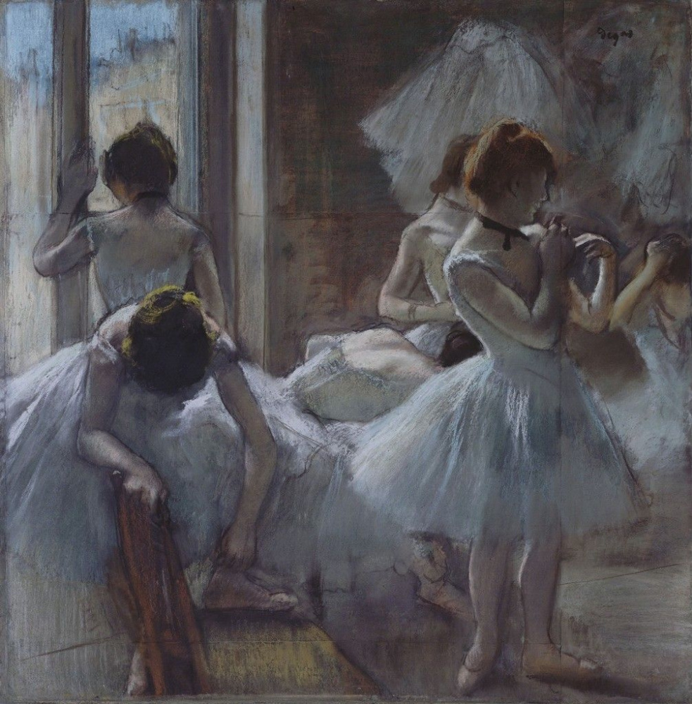 Edgar Degas. Dancer resting